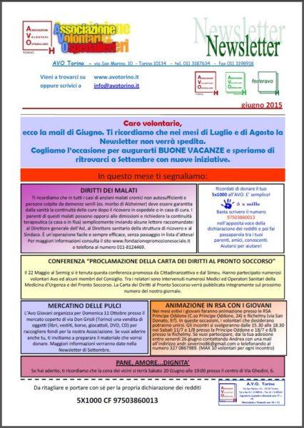 Newsletter - giugno 2015