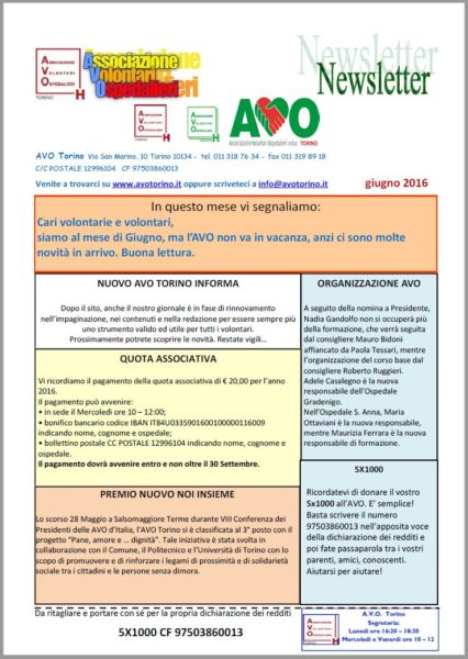 Newsletter giu 16